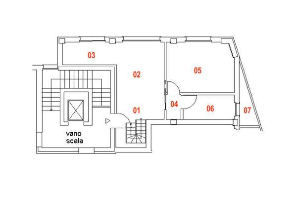 Immagine n1 - Planimetria - Piano terzo - Asta 9467