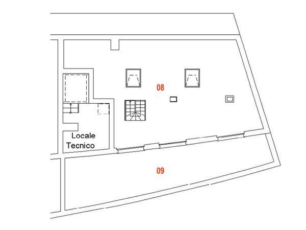 Immagine n1 - Planimetria - Piano quarto - Asta 9467