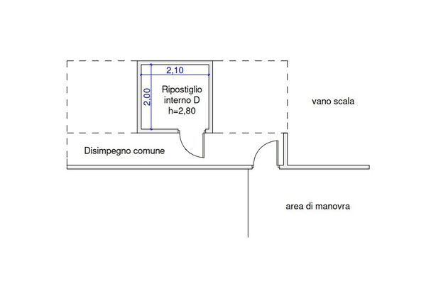 Immagine n1 - Planimetria - Piano interrato - Asta 9506