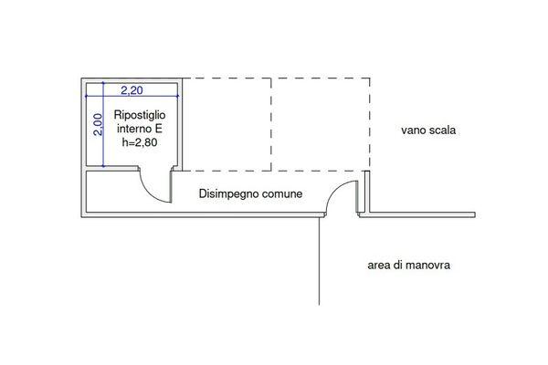 Immagine n1 - Planimetria - Piano interrato - Asta 9507