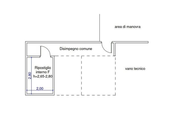 Immagine n1 - Planimetria - Piano interrato - Asta 9508