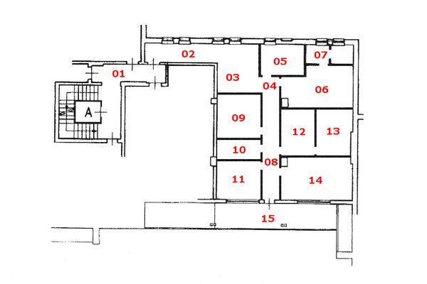 Immagine n1 - Planimetria - Piano primo - Asta 9622