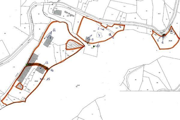 Immagine n2 - Planimetria - Estratto di mappa - Asta 9685