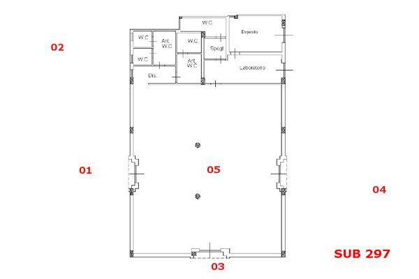 Immagine n1 - Planimetria - Piano terra sub 297 - Asta 9711
