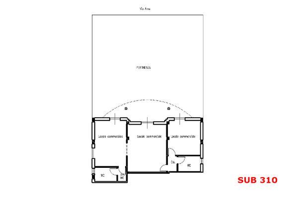 Immagine n2 - Planimetria - Piano terra sub 310 - Asta 9711