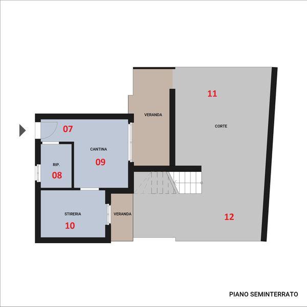 Immagine n0 - Planimetria - Piano seminterrato - Asta 9846