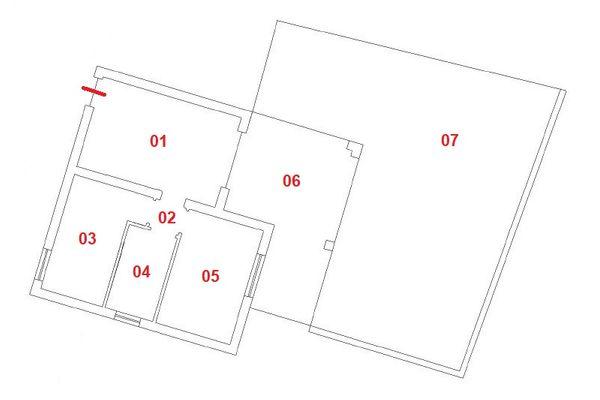 Immagine n0 - Planimetria - Piano seminterrato - Asta 9851