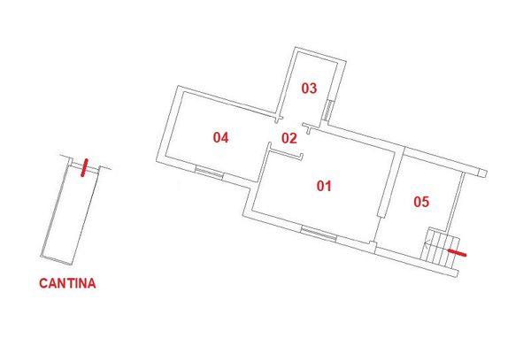 Immagine n0 - Planimetria - Piano seminterrato - Asta 9852