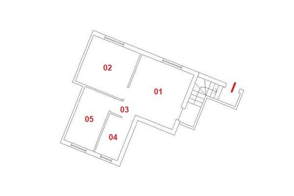 Immagine n0 - Planimetria - Piano seminterrato - Asta 9853