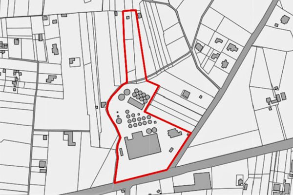 Immagine n2 - Planimetria - Estratto di mappa - Asta 9904