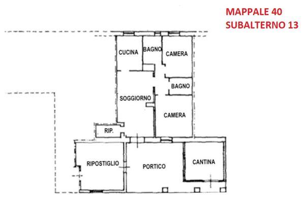 Immagine n0 - Planimetria - Piano terra - Appartamento - Asta 9924