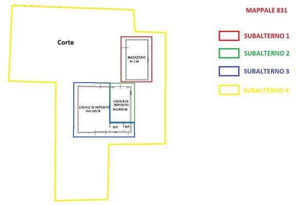 Immagine n0 - Planimetria - Piano terra - Magazzini - Asta 9924